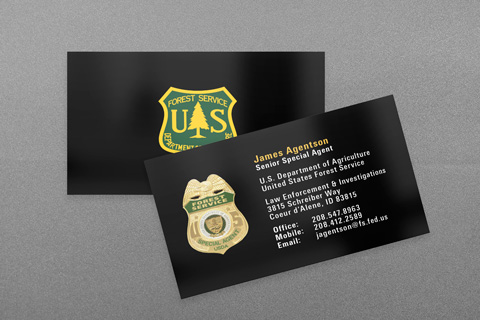 USCG and CGIS business cards