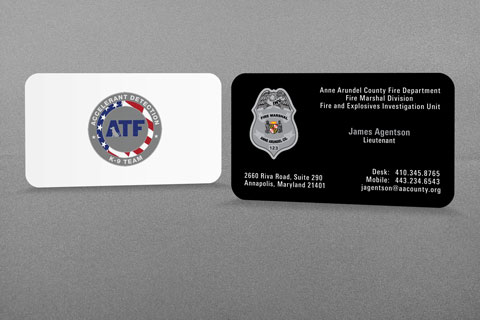 Anne Arundel Co Fired Department Business Card