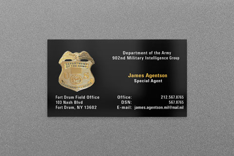 army ci business card - Military Business Cards