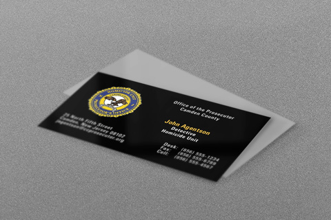 State & Municipal Police Business Cards