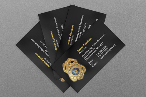 State municipal police business cards kraken design cheektowaga ny police department business card reheart Choice Image