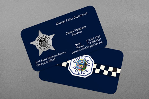 State municipal police business cards kraken design chicago police department business card reheart Images