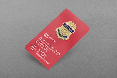 CBP Business Card (Red)