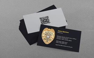 camden county police business card - Police Business Cards