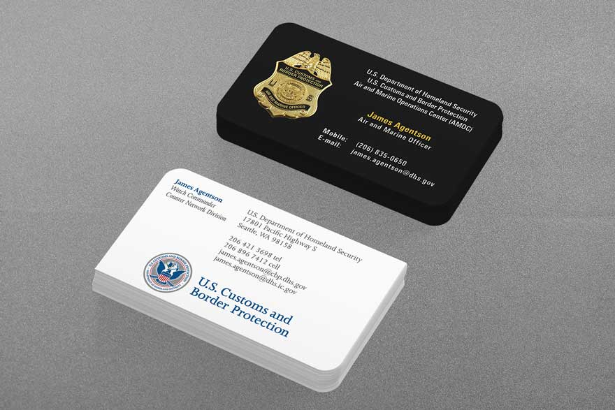 federal law enforcement business cards - Police Business Cards