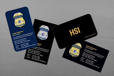 Federal law enforcement business cards kraken design us department of homeland security colourmoves