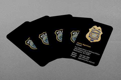 US Department of Defense Police Business Card