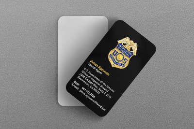 Federal Law Enforcement Business Cards