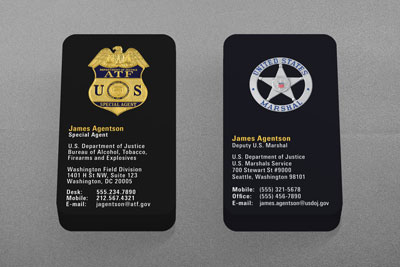 Federal Law Enforcement Business Cards Kraken Design - Police business cards templates