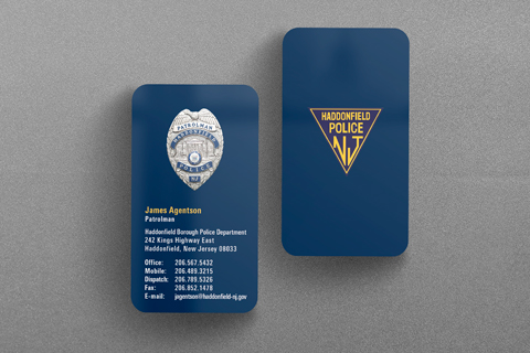 State municipal police business cards kraken design haddonfield nj police business card colourmoves