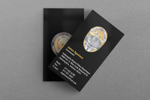 State municipal police business cards kraken design ind airport police department business card reheart Choice Image