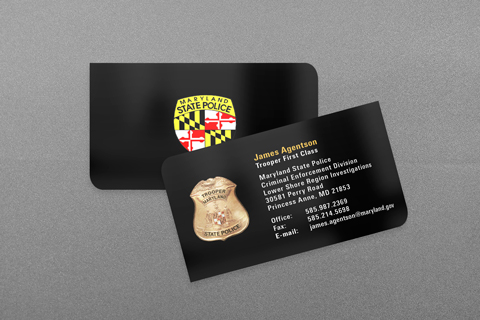 maryland state police business card - Police Business Cards