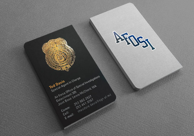 law enforcement business card with spot uv - Police Business Cards