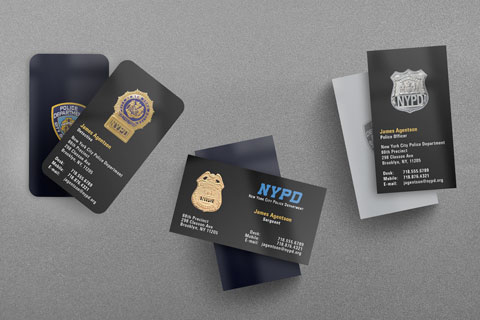 nypd police business card - Police Business Cards