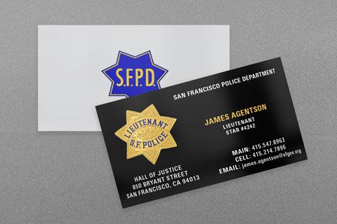 State & Municipal Police Business Cards | Kraken Design