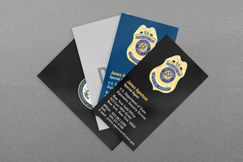 Federal Law Enforcement Business Cards Kraken Design