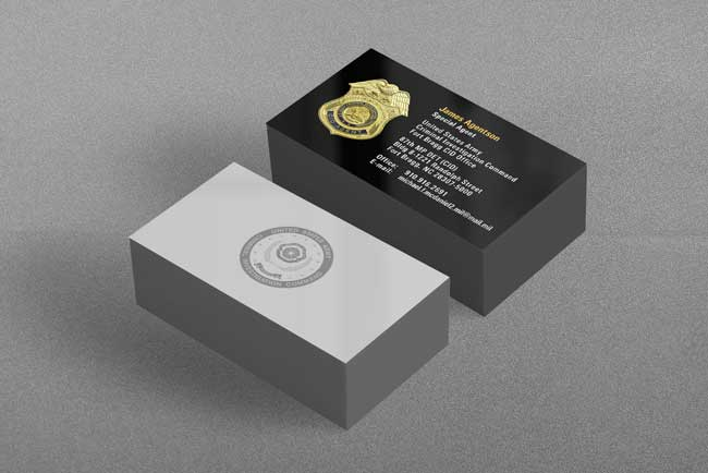 US Army CID Business Card