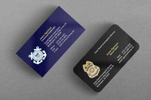 Federal law enforcement business cards kraken design uscg and cgis business cards colourmoves Image collections