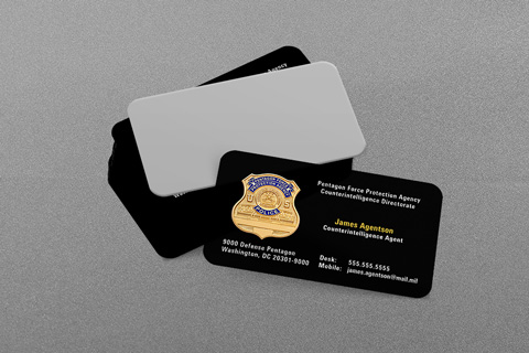 Military Law Enforcement Business Cards