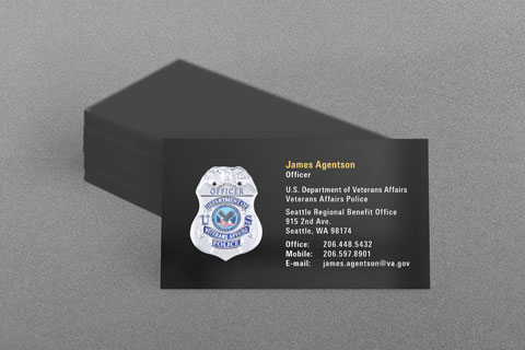 US Dept of Veterans Affairs Police Business Card