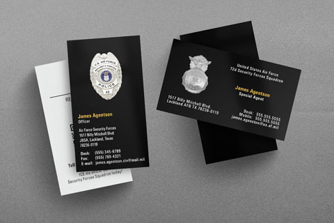 U.S. Air Force Security Forces Business Card